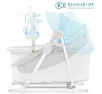 Kinderkraft - Berço e espreguiçadeira 5IN1 UNIMO light blue