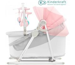 Kinderkraft - Berço e espreguiçadeira 5IN1 UNIMO pink