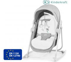 Kinderkraft - Berço e espreguiçadeira 5IN1 UNIMO Stone Grey