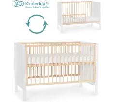 Kinderkraft - Cama de grades convertível MIA White
