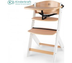 Kinderkraft - Cadeira da papa Enock white legs