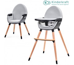Kinderkraft - Cadeira da papa FINI black