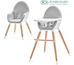 Kinderkraft - Cadeira da papa FINI grey