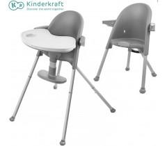 Kinderkraft - Cadeira da papa PINI gray
