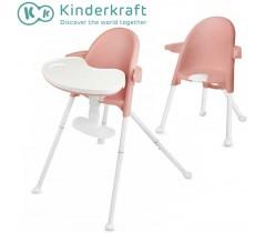Kinderkraft - Cadeira da papa PINI pink
