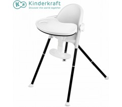 Kinderkraft - Cadeira da papa PINI white