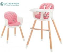 Kinderkraft - Cadeira da papa Sienna pink