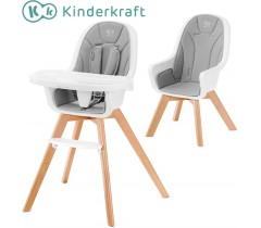 Kinderkraft - Cadeira da papa 2 in 1 TIXI grey