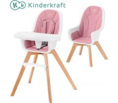 Kinderkraft - Cadeira da papa 2 in 1 TIXI pink