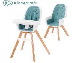 Kinderkraft - Cadeira da papa 2 in 1 TIXI turquoise