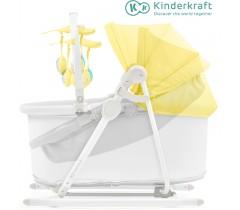 Kinderkraft - Berço e espreguiçadeira 5IN1 UNIMO yellow
