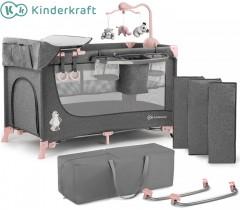 Kinderkraft - Cama de viagem JOY PINK