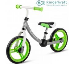 Kinderkraft - Bicicleta 2WAY next green/gray