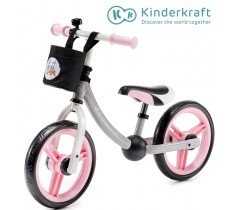 Kinderkraft - Bicicleta 2WAY next light pink