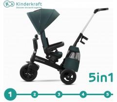 Kinderkraft - Triciclo 5 in 1 EASYTWIST Midnight Grey