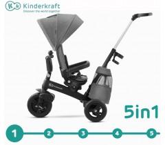 Kinderkraft - Triciclo 5 in 1 EASYTWIST Platinum Grey