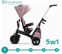 Kinderkraft - Triciclo 5 in 1 EASYTWIST Mauvelous Pink