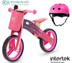 Kinderkraft - Bicicleta Runner Galaxy pink hemlet