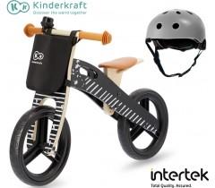 Kinderkraft - Bicicleta Runner Vintage black hemlet