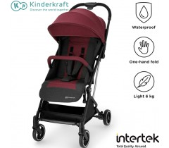Kinderkraft - Carrinho de bebé INDY burgundy