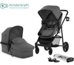 Kinderkraft - Carrinho de bebé 2 in 1 JULI grey