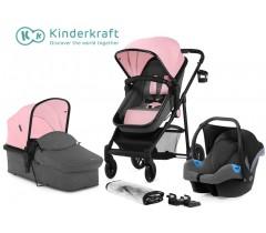 Kinderkraft - Carrinho de bebé 3 in 1 JULI pink