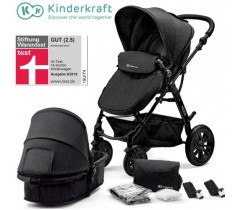 Kinderkraft - Carrinho de bebé 2 in 1 MOOV Black
