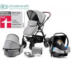 Kinderkraft - Carrinho de bebé 3 in 1 MOOV Grey