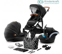 Kinderkraft - Carrinho de bebé PRIME 3 in 1 black + mommy bag
