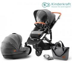 Kinderkraft - Carrinho de bebé PRIME 2 in 1grey