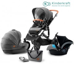 Kinderkraft - Carrinho de bebé PRIME 3 in 1grey