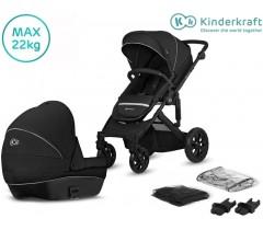 Kinderkraft - Carrinho de bebé Prime Lite Black 2 in 1