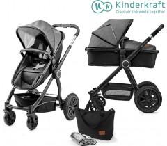 Kinderkraft - Carrinho de bebé 2 in 1 VEO black/grey