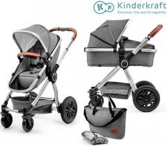 Kinderkraft - Carrinho de bebé 2 in 1 VEO grey
