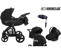 BabyActive - Carrinho de bebé 4 in 1 Mommy Black Magic