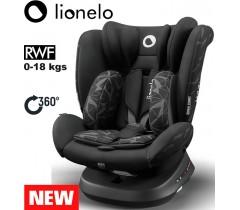 Lionelo - Cadeira auto Bastiaan ONE 360º Isofix (0-36 kg) Black Onix