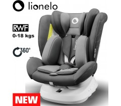 Lionelo - Cadeira auto Bastiaan ONE 360º Isofix (0-36 kg) Grey Graphite