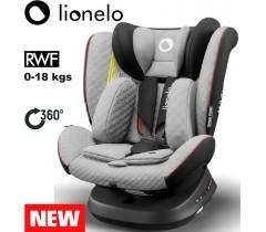 Lionelo - Cadeira auto Bastiaan ONE 360º Isofix (0-36 kg) GREY Stone Black