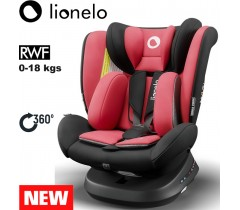 Lionelo - Cadeira auto Bastiaan ONE 360º Isofix (0-36 kg) Red Chili