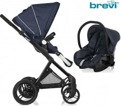 Brevi - Duo carrinho c/ grupo 0+ Midnight Blue Presto Off Road