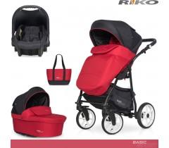 RIKO - Carrinho multifuncional BASIC SPORT + CARLO Sport Red