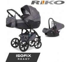 RIKO - Carrinho multifuncional BRANO NATURAL + CARLO ISOFIX READY Carbon