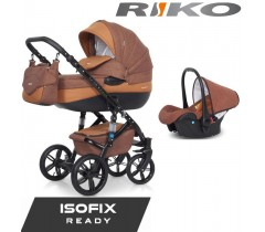 RIKO - Carrinho multifuncional BRANO NATURAL + CARLO ISOFIX READY Copper