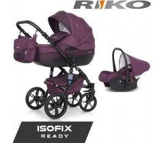 RIKO - Carrinho multifuncional BRANO NATURAL + CARLO ISOFIX READY Purple