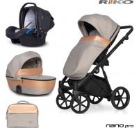 RIKO - Carrinho multifuncional NANO PRO + KITE ISOFIX READY Camel