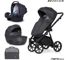 RIKO - Carrinho multifuncional NANO PRO + KITE ISOFIX READY Carbon