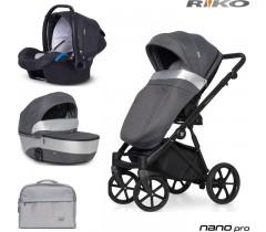 RIKO - Carrinho multifuncional NANO PRO + KITE ISOFIX READY Onyx