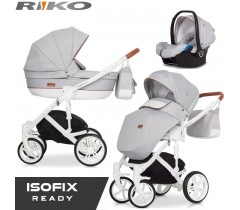 RIKO - Carrinho multifuncional NATURO + KITE ISOFIX READY Grey Fox