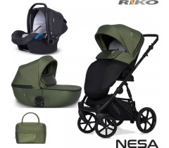RIKO - Carrinho multifuncional NESA + KITE ISOFIX READY Jungle