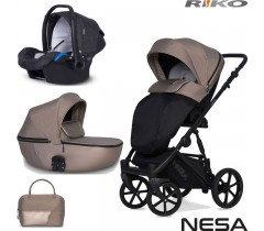 RIKO - Carrinho multifuncional NESA + KITE ISOFIX READY Nugat